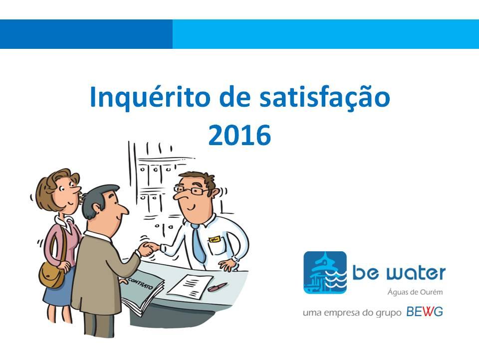 Estudo de satisfacao de Utilizadores 2016